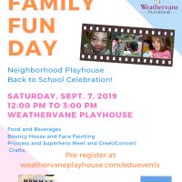 Family Fun Day at Weathervane Playhouse