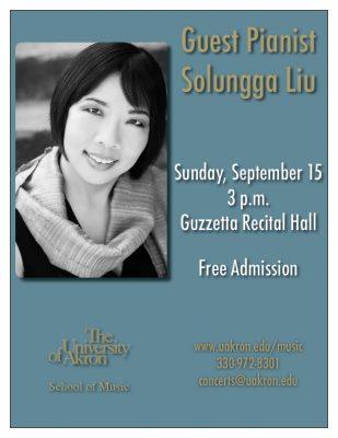 Guest pianist Solungga Liu