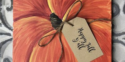 Pumpkin Canvas - Paint Create and Sip Party Art Ma...
