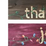 2 sided thankful joyful wooden sign - Paint Create...