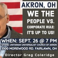 We the People vs. Corporate Rule: It's Up to Us!