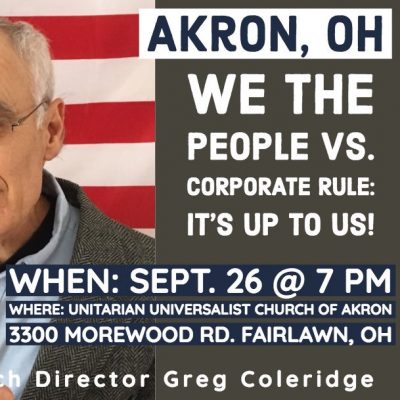We the People vs. Corporate Rule: It's Up to Us!...