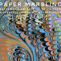Paper Marbling Workshop with Claire Marks