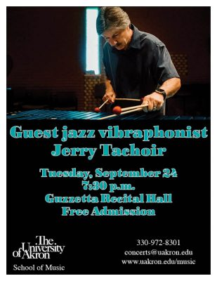 Guest jazz vibraphonist Jerry Tachoir
