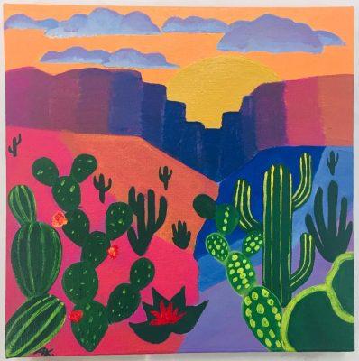 Adult Painting: Southwest Landscape