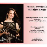 Faculty trombonist Elisabeth Shafer