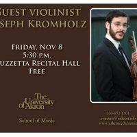 Guest violinist Joseph Kromholz