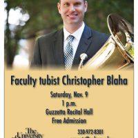 Faculty tubist Christopher Blaha