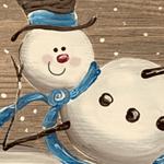 Merlot Snowman Painting on Tile - Create and Paint...