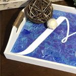 Pour Painting Monogram Tray - Create and Paint Sip...