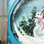 Snowman Snow Globe Glass Block - Create and Paint ...