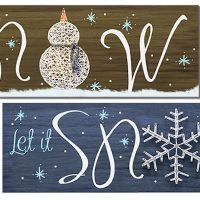 Snowman String Art- Create and Paint Sip Party Art Maker Class