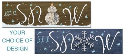 Snowman String Art- Create and Paint Sip Party Art...