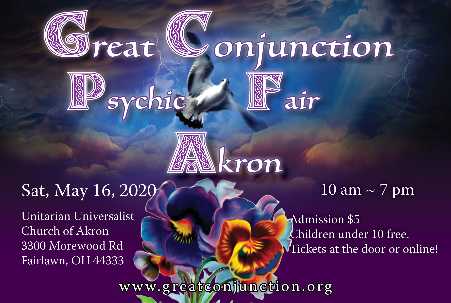 Kansas City Psychic Fair 2020.Great Conjunction Spring Psychic Fair In Akron Presented By
