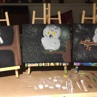 Snow Owl Painting Workshop with Leila Griffiths, Elkaysthings