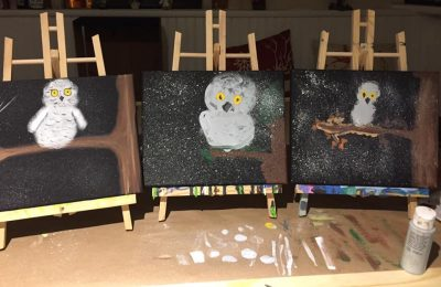 Snow Owl Painting Workshop with Leila Griffiths, E...
