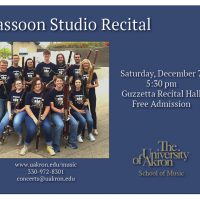 Bassoon Studio Recital