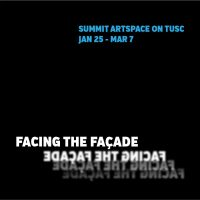 Facing the Façade, architecture inspiring art, at Summit Artspace on Tusc