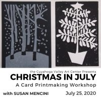 A Card Print Making Workshop with Susan Mencin