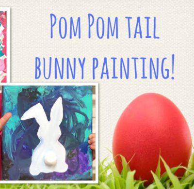 Pom Pom Tail Bunny Painting!