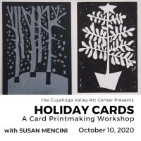 HOLIDAY CARDS: A Card Printmaking Workshop with Susan Mencini