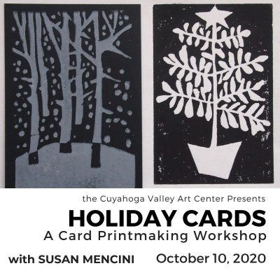 HOLIDAY CARDS: A Card Printmaking Workshop with Susan Mencini (Canceled)