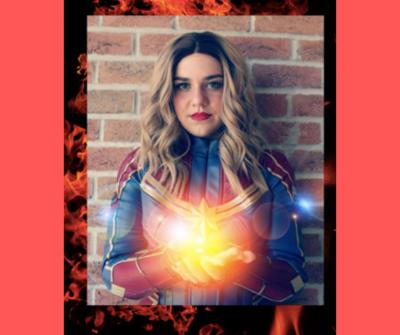 Visit from Cosmic Heroine!