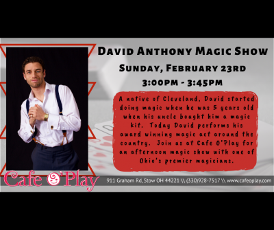 Magician David Anthony at Cafe O'Play