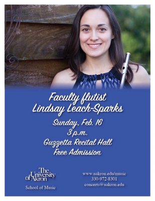 Faculty flutist Lindsay Leach-Sparks