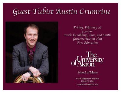 Guest tubist Austin Crumrine
