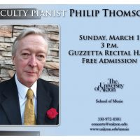 Faculty pianist Philip Thomson