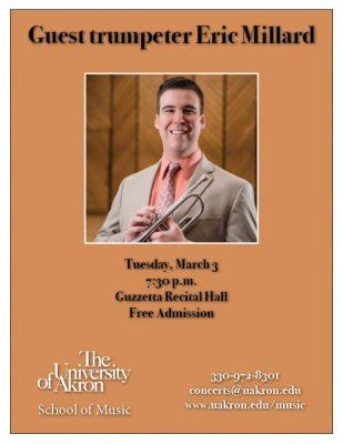 Guest trumpeter Eric Millard