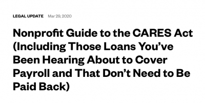 Nonprofit Guide to the CARES Act