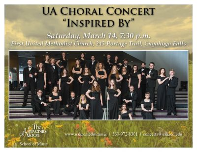 """UA Choral Concert - """"Inspired By"""""""