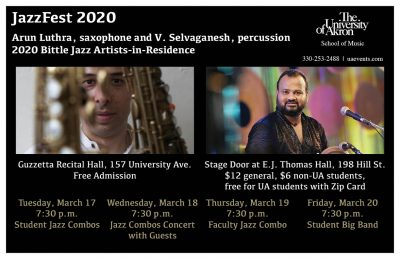 JazzFest: Faculty Jazz Combo (CANCELED/POSTPONED)