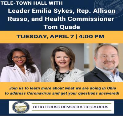 Representative Emilia Strong Sykes - Ohio House District 34 -  Virtual Town Hall