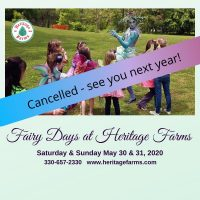 Fairy Days at Heritage Farms Peninsula is cancelled
