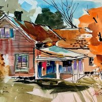 RetroRenown Watercolorist Hal Scroggy