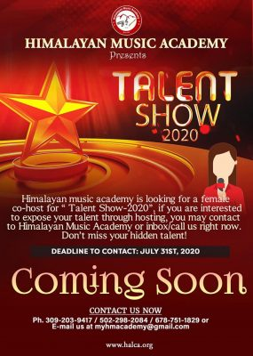 Call for Female Co-host for Talent Show