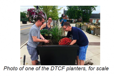 Request for Proposals: Art for Vinyl Wraps for Downtown Cuyahoga Falls Planters