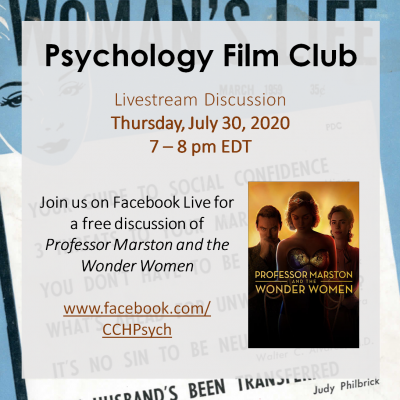 Psychology Film Club - Prof. Marston and the Wonder Women