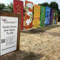 God's Doors Are Open To All Outdoor Art Installation