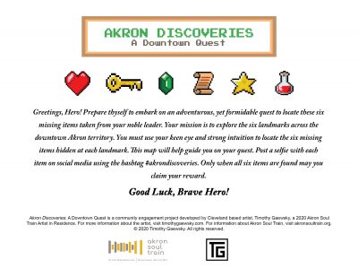 Akron Discoveries - A Downtown Quest
