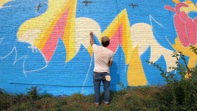 Mural Celebration at Hazel Tree