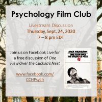Psychology Film Club - One Flew Over the Cuckoo's Nest
