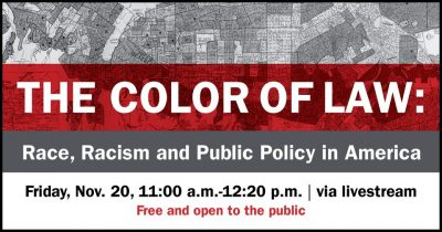 The Color of Law: Race, Racism and Public Policy in America