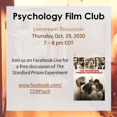 Psychology Film Club - The Stanford Prison Experiment