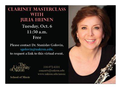 Clarinet Masterclass with Julia Heinen