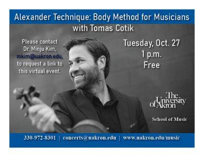 Alexander Technique with Tomas Cotik