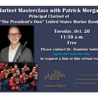 Clarinet Masterclass with Patrick Morgan